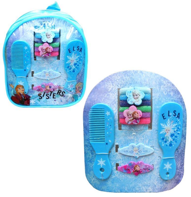 Dívčí batůžek s vlasovými doplňky Frozen / Ledové Království hřeben / gumičky / sponky