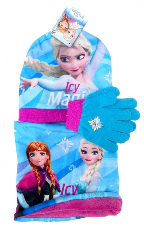 Dívčí podzimní / zimní sada oblečení Frozen / Ledové Království čepice / nákrčník / rukavice