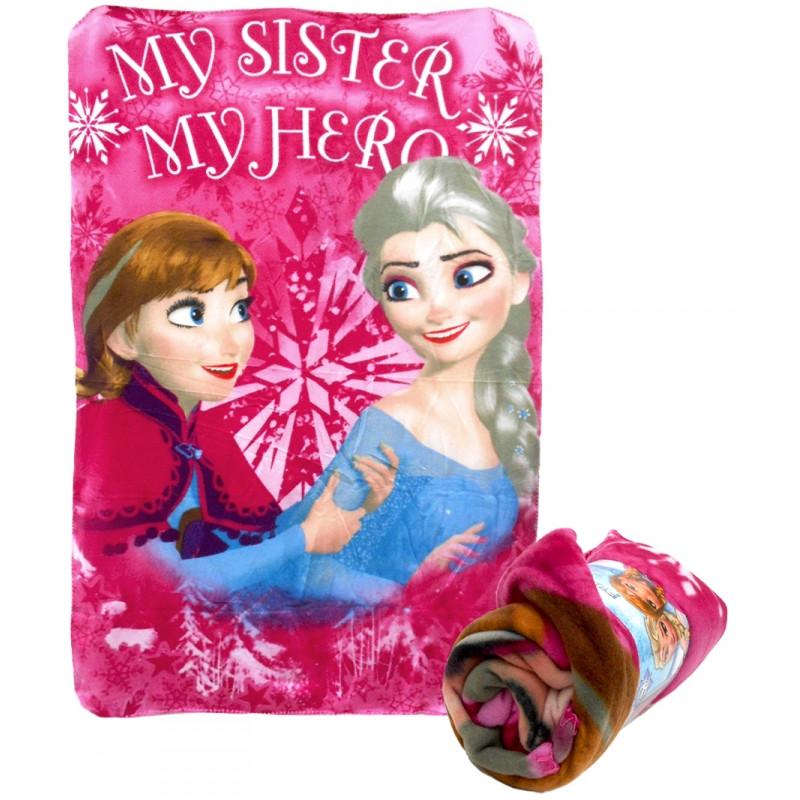 Dívčí hebká fleecová deka Frozen / Ledové Království Anna a Elsa 100 x 150 cm
