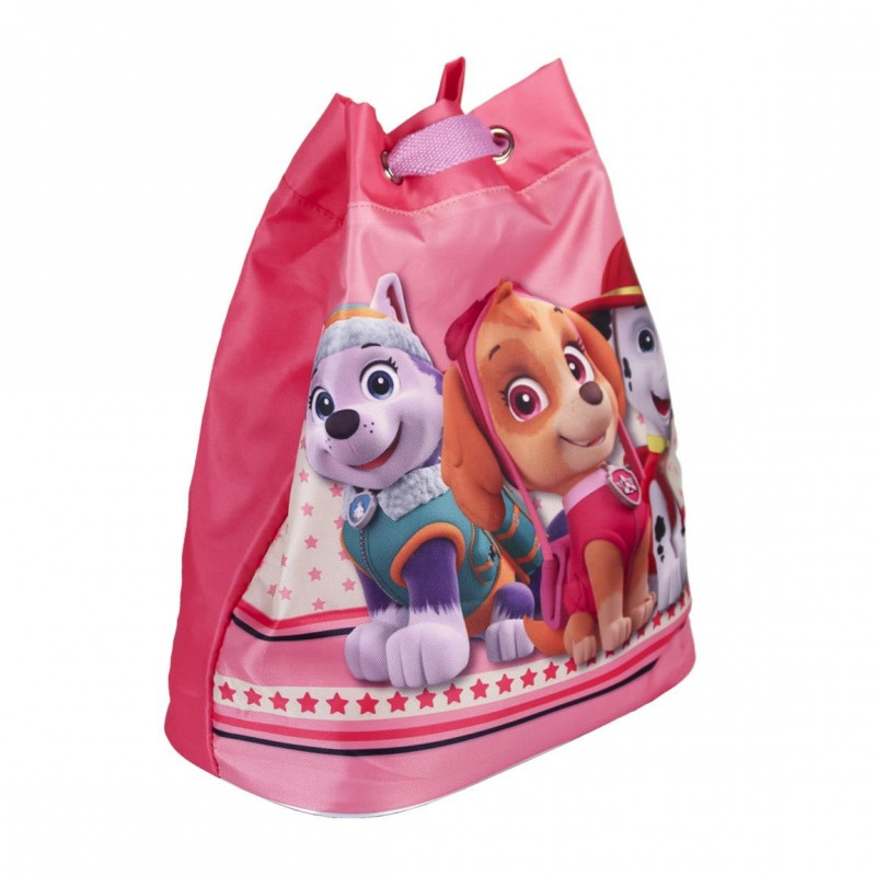Dívčí růžový pytlík / batůžek na záda Tlapková Patrola / Paw Patrol Everest a Skye 23 x 21 cm