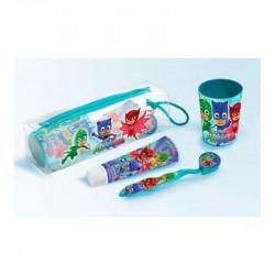 Kosmetická taštička PJ Mask / kelímek, pasta, kartáček / veci z filmu