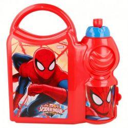 Svačinový set s Pavoučím mužem Spidermanem / krabička s úchytem a láhev na pití 400 ml / vecizfilmu