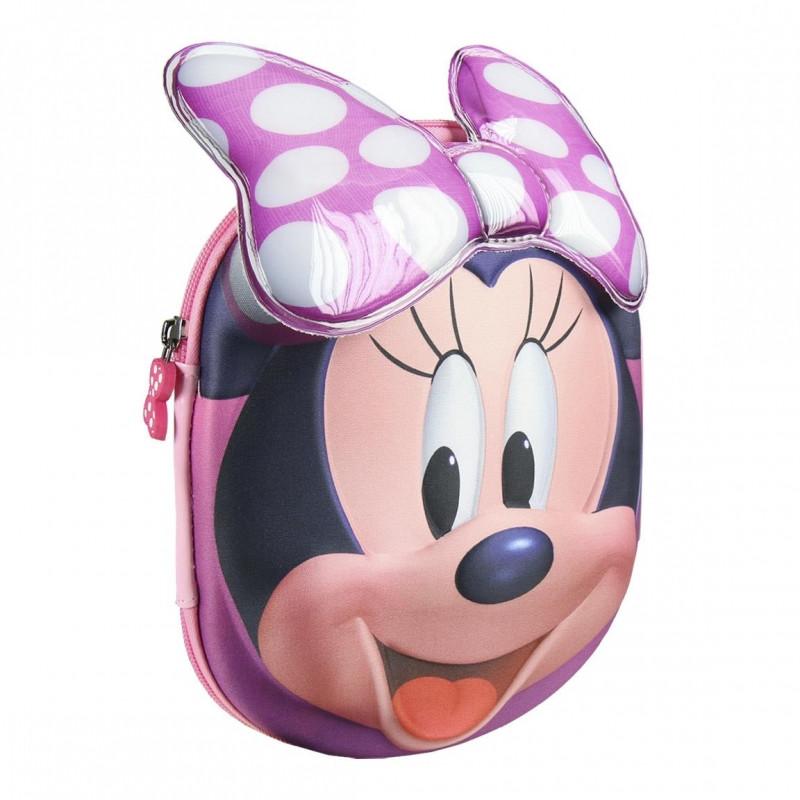 Dívčí 3D pouzdro / penál s vybavením Myška Minnie / Minnie Mouse