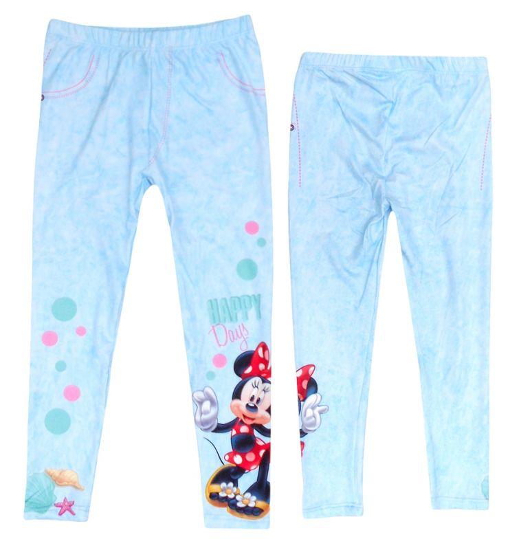 Dívčí legíny modré s Myškou Minnie / Minnie Mouse velkost 104 - 134 cm