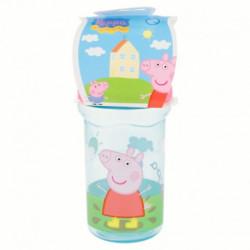 Láhev / Pohárek se silikonovým pítkem Peppa Pig / Prasátko Pepa / 330 ml