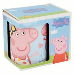 Keramický hrnek Pepina s mašlí / Peppa Pig / Prasátko Pepa / 315 ml / veci z filmu