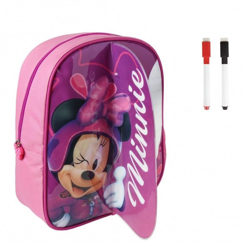 Dívčí batoh s přední stranou na kreslení Myška Minnie / Minnie Mouse 25 x 31 x 10 cm