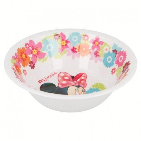 Dívčí plastová miska Myška Minnie / Minnie Mouse Květiny