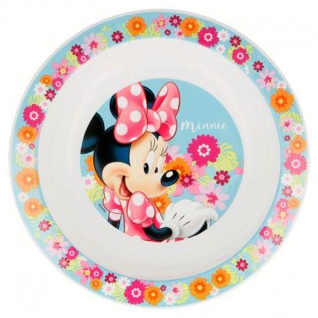 Dívčí plastový talířek Myška Minnie / Minnie Mouse Květiny