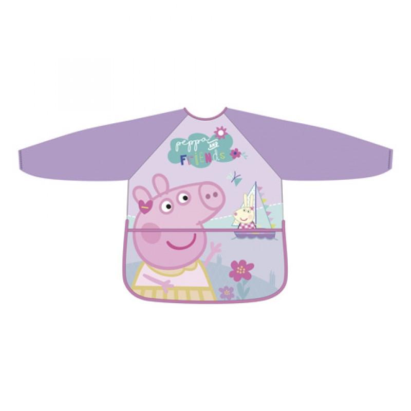 Ochranná zástěrka s dlouhými rukávy / Peppa Pig / Prasátko Pepa / 3-5 let