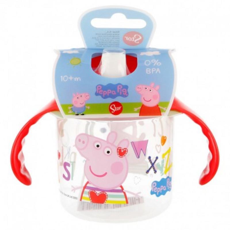 Cvičný hrnek s pítkem Peppa Pig / Prasátko Pepa / 250 ml