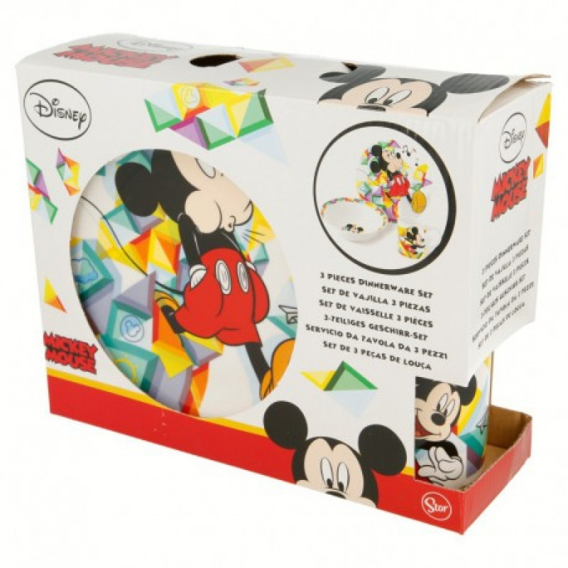 Keramická jídelní sada Mickey Mouse / 3 dílna