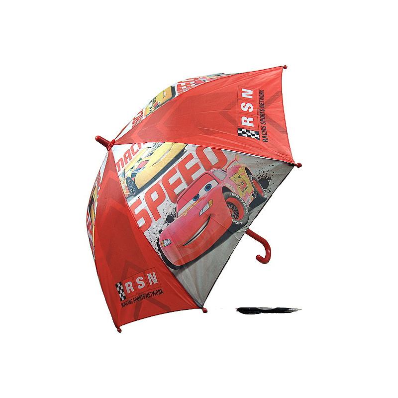 Chlapecký manuální deštník Cars / Auta šedá / červená