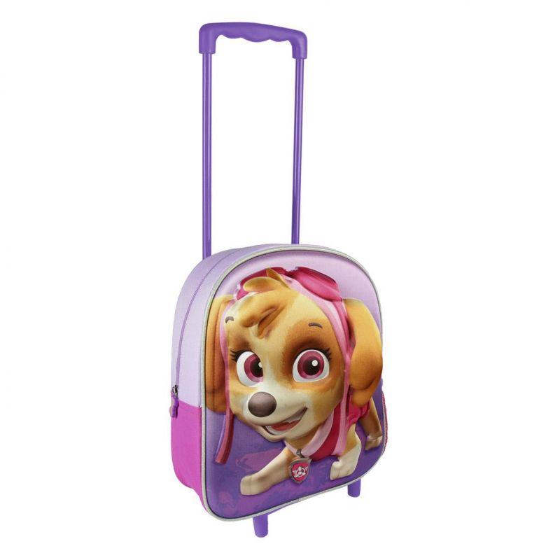 Dívčí 3D batoh na kolečkách s rukojetí Paw Patrol / Tlapková Patrola Skye 25 x 31 x 10 cm / vecizfilmu