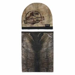 Podzimní / Zimní sada Jurassic Park čepice / nákrčník / 52 - 54 cm / veci z filmu