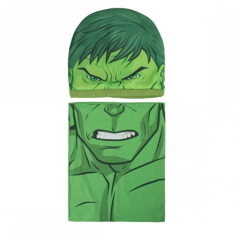 Podzimní / zimní sada Avengers Hulk čepice / nákrčník