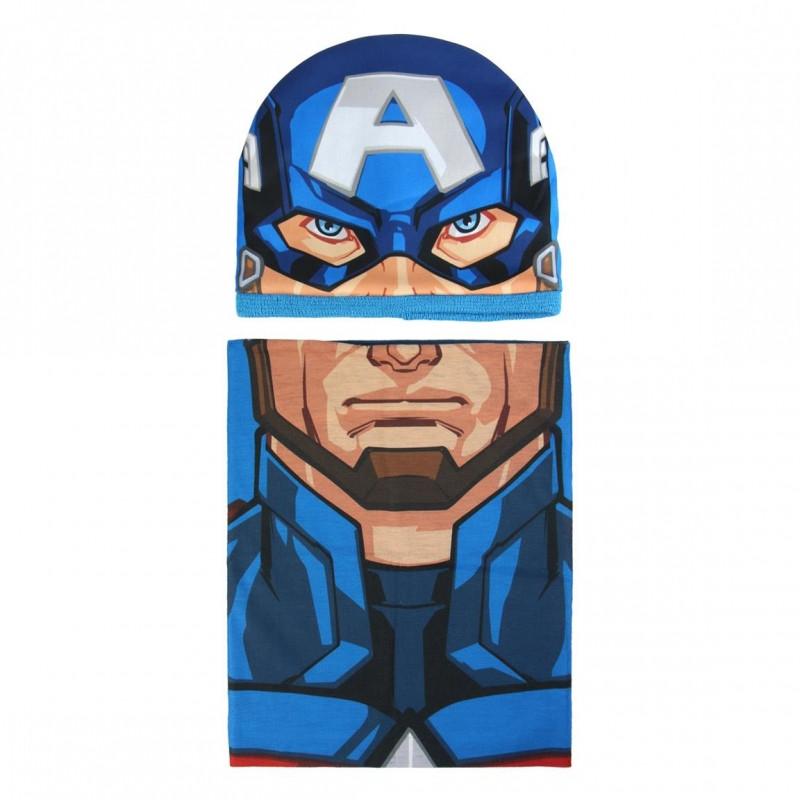 Podzimní / zimní sada Avengers čepice / nákrčník / 50 - 52 cm