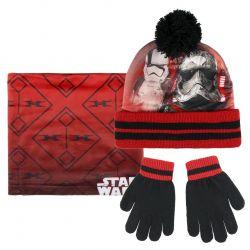 Podzimní / zimní sada Star Wars / čepice, nákrčník, rukavice / uni