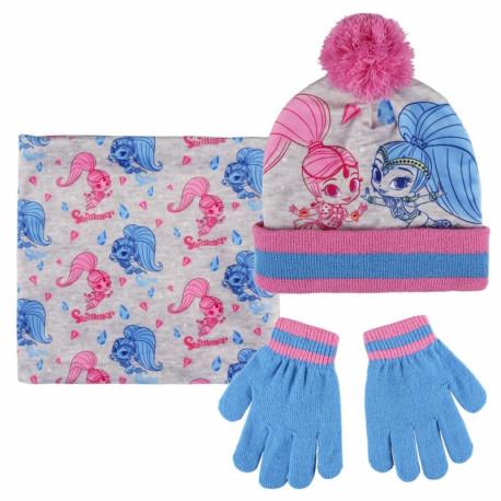 Podzimní / Zimní sada Shimmer and Shine čepice, nákrčník, rukavice / 52 - 54 cm