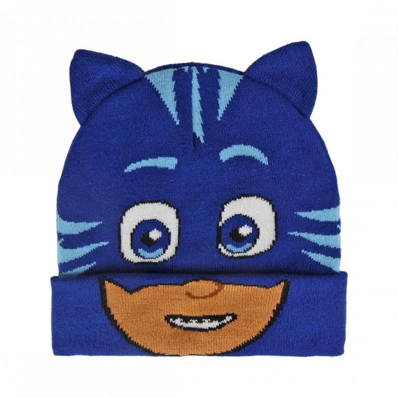 Podzimní / Zimní čepice PJ Masks Connor 3D / 52-54 cm