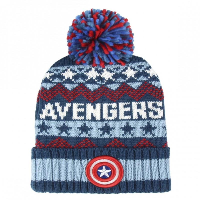 Podzimní   Zimní čepice s bambulí Avengers   50-52 cm   veci z filmu a4c60f25a3