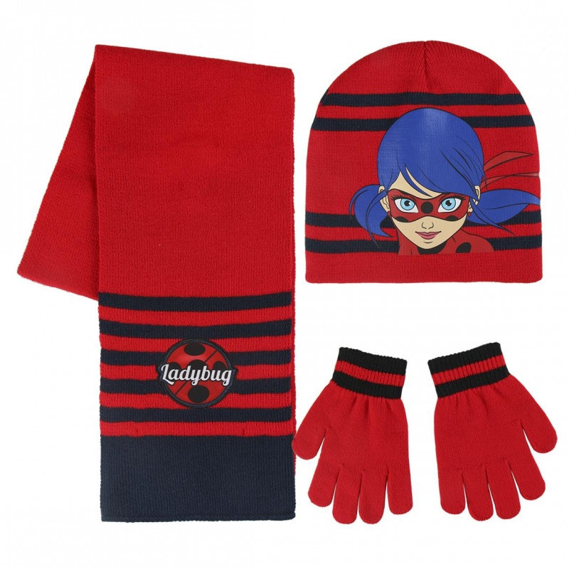 Podzimní / Zimní sada Zázračná Beruška / Miraculous Ladybug čepice, rukavice, šála