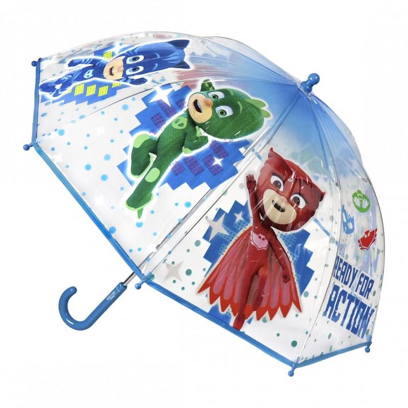 Manuální dětský deštník průhledný PJ Masks