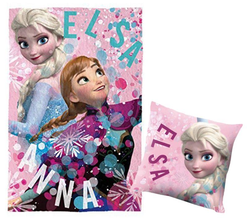 2b707c8d378 Hřejivá hebká sada Frozen   Ledové Království   Fleecová deka a polštář    vecizfilmu