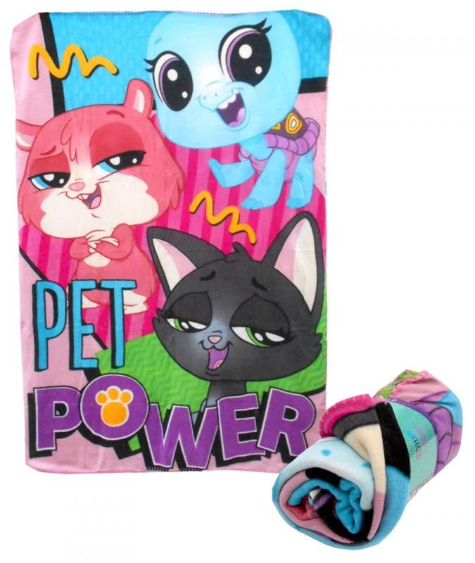 Hebká fleecová deka pro holky Littlest Pet Shop / 100 x 150 cm / vecizfilmu