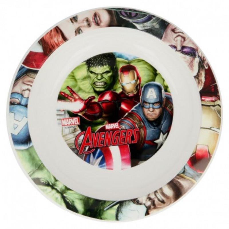 Plastový talíř hluboký Avengers / ⌀22 cm