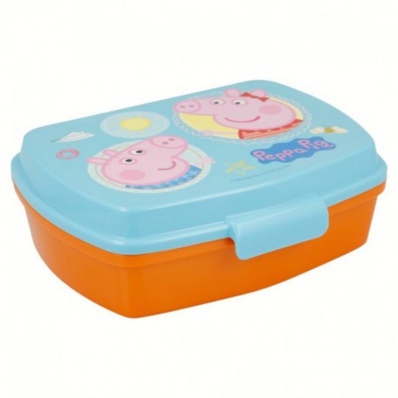 Krabička na svačinu / lunch box Peppa Pig / Prasátko Peppa / 18 x 14 x 5 cm