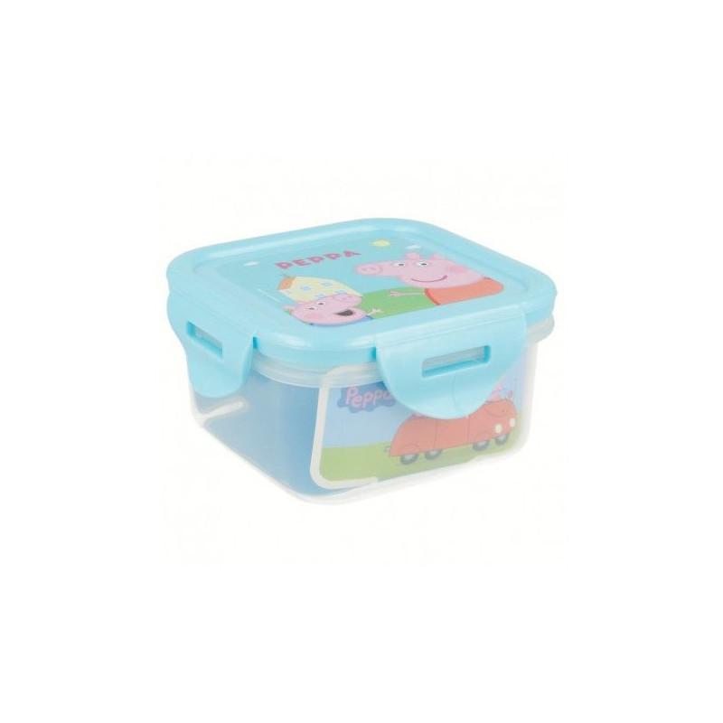 Krabička na jídlo s bezpečnostním víčkem Peppa Pig / Prasátko Peppa 290 ml / 10 x 10 x 5,5 cm
