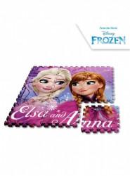 Dívčí pěnové puzzle 9 dílů Ledové Království / Frozen Elsa a Anna 90 x 90 cm