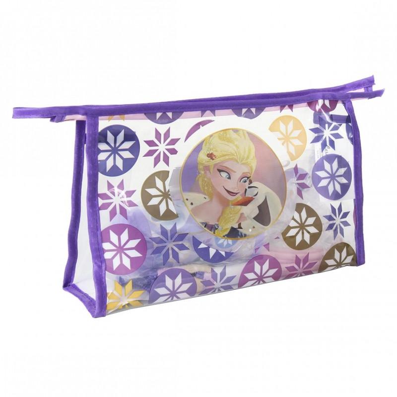 d52cf945de ... Dívčí kosmetická taštička s vybavením Frozen   Ledové Království ručník    kartáček na zuby   hřeben ...