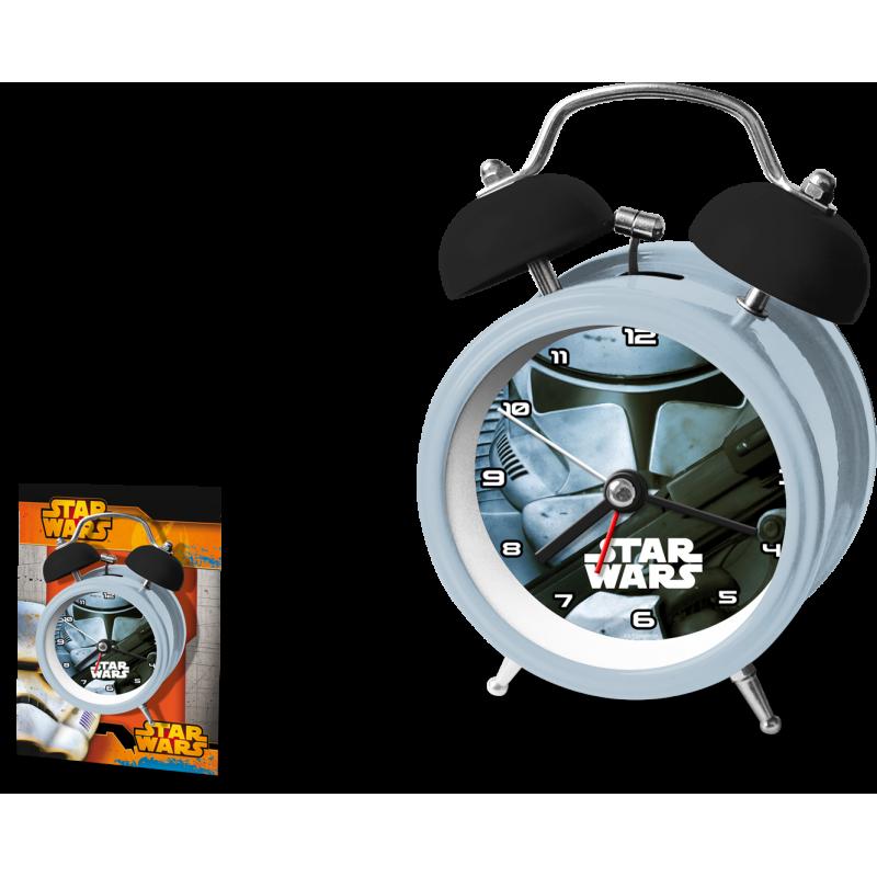 Kovový budík Star Wars / 12 cm