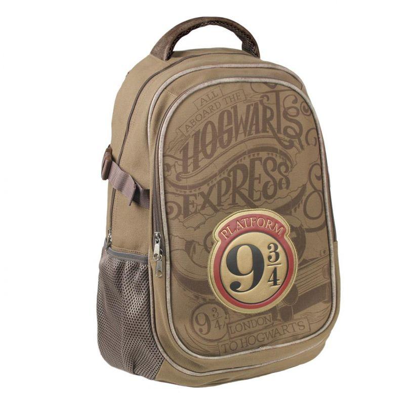 Chlapecký školní batoh Harry Potter 9 3/4 světle hnědý 31 x 47 x 24 cm