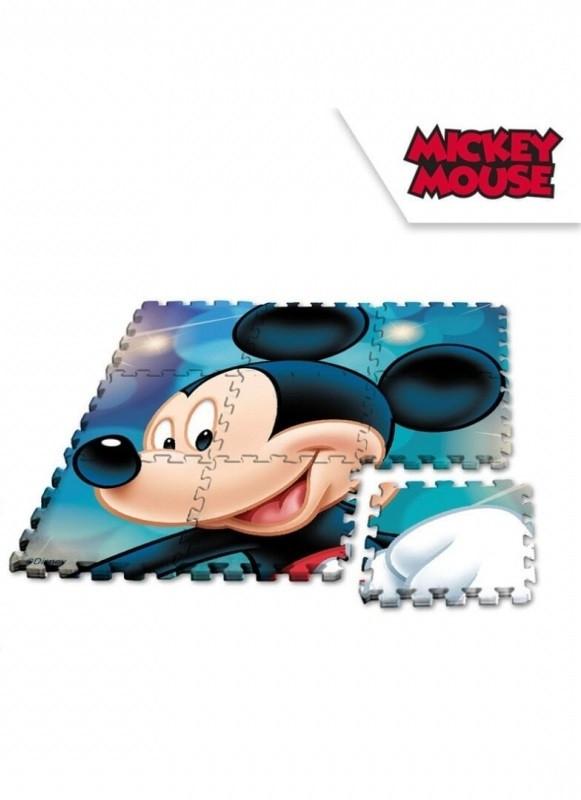 Chlapecké pěnové puzzle 9 dílů s Myšákem Mickey / Mickey Mouse 90 x 90 cm