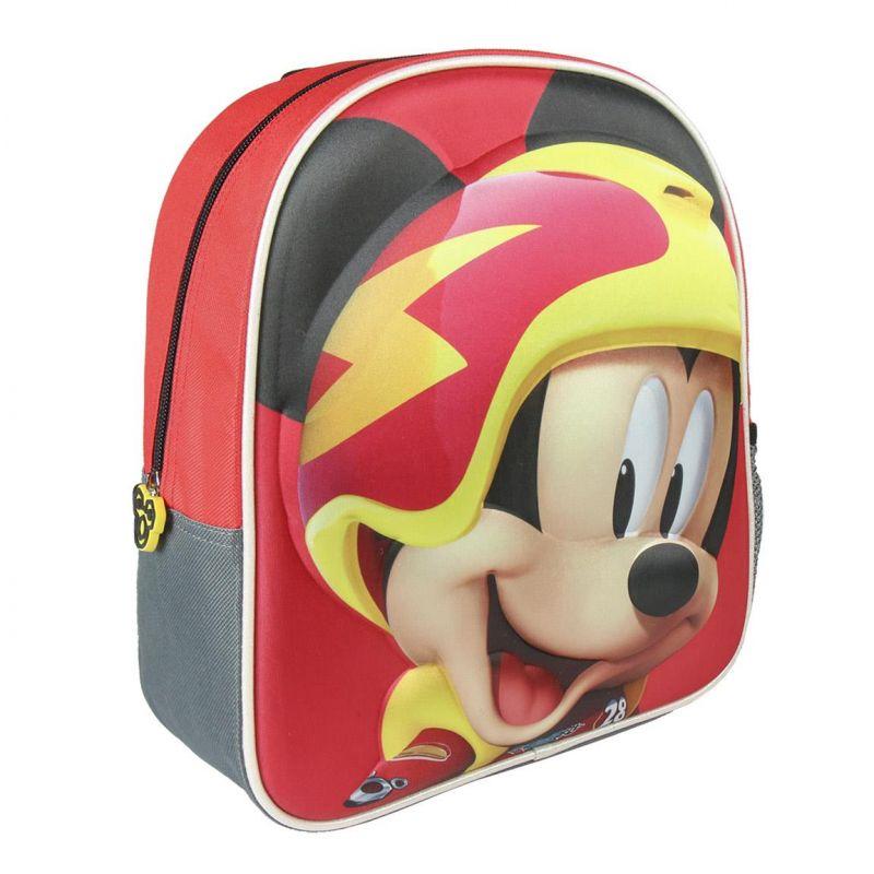Dětský 3D batoh s Myšákem Mickey / Mickey Mouse závodník 25 x 31 x 10 cm