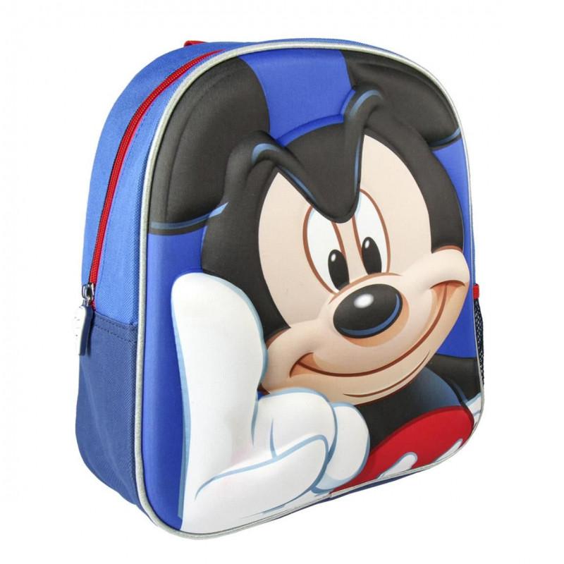Dětský 3D batoh s Myšákem Mickey / Mickey Mouse modrý 25 x 31 x 10 cm