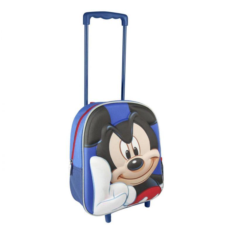 Chlapecký 3D batoh na kolečkách s rukojetí Myšák Mickey / Mickey Mouse 25 x 31 x 10 cm