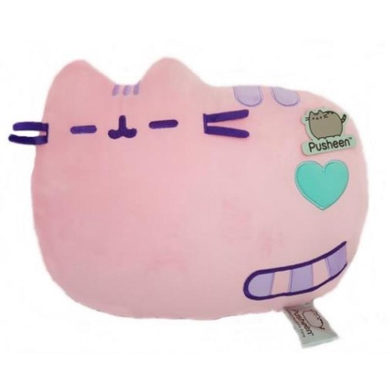 Plyšový polštář kočička Pusheen Laying Down Pink 35 x 28 x 8 cm