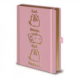Dívčí notes Pusheen růžový / Eat Sleep Eat Repeat / A5 / 120 listů