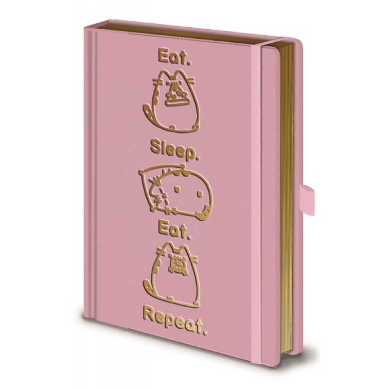 Dívčí notes Pusheen růžový / Eat Sleep Eat Repeat / A5 / 120 listů