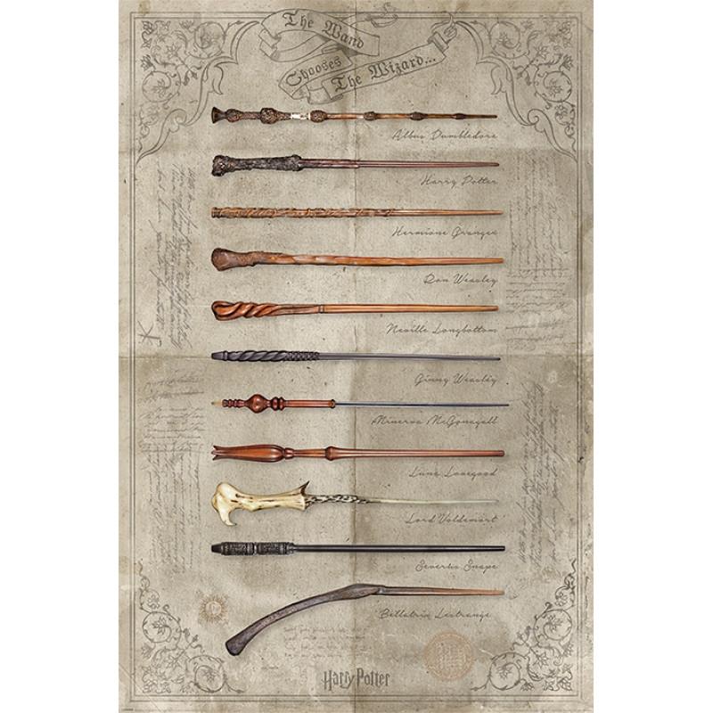 Plakát mocného hrdiny Harryho Pottera / zbraně 61 x 91,5 cm