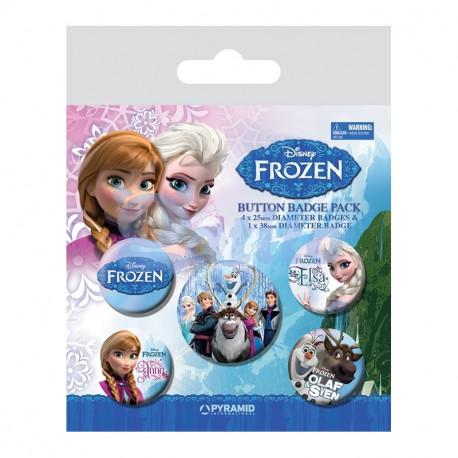 Sada 5 ks dívčích odznáčků na batoh Frozen / Ledové Království / vecizfilmu