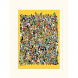 Plakát v rámečku Simpsonovi / Celý Springfield 30 x 40 cm / vecizfilmu