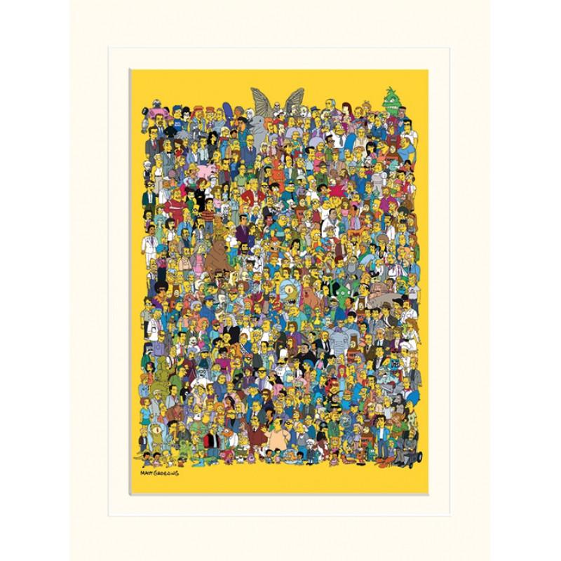 Plakát v rámečku Simpsonovi / Celý Springfield 30 x 40 cm