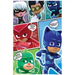 Plakát s hrdiny PJ Masks / Pyžamasky / Greg Amaya a Connor / Super Hero 61 x 91,5 cm / vecizfilmu