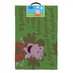 Dveřní rohožka Prasátko Peppa / Peppa Pig bláto / 60 x 40 x 2 cm / vecizfilmu