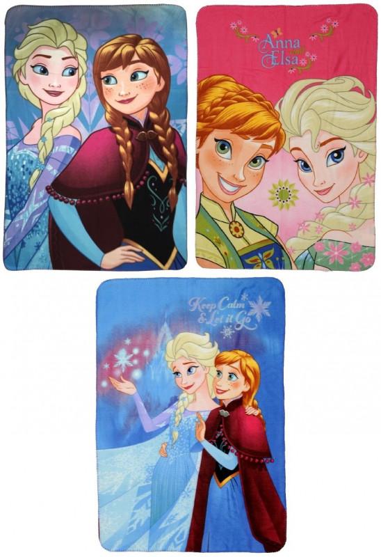 Hebká fleecová deka Ledové Království / Frozen / Anna a Elsa 100 x 140 cm / vecizfilmu